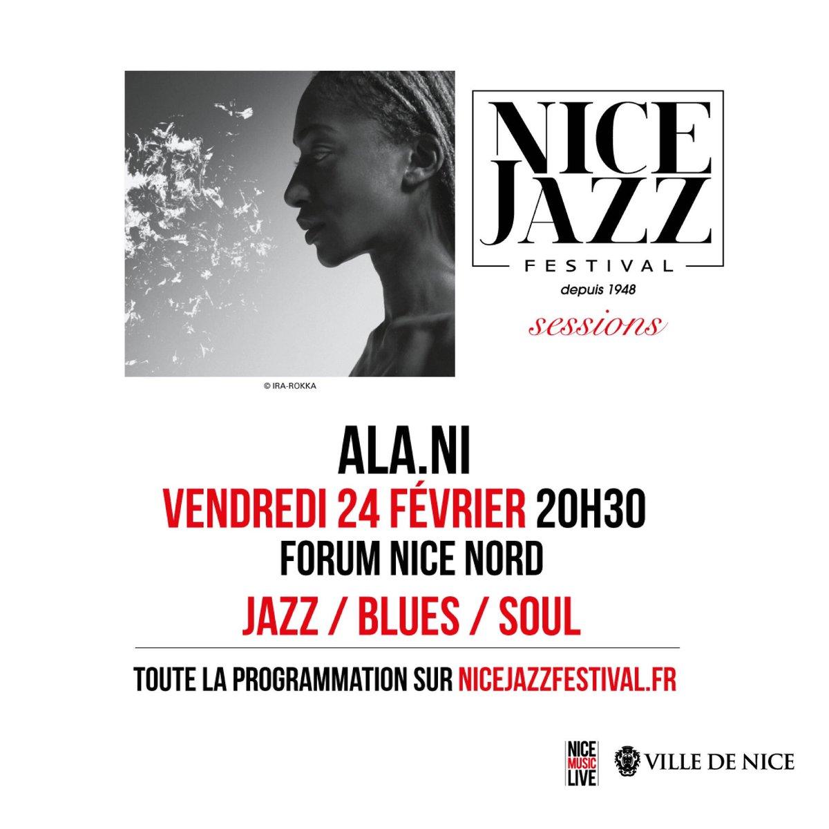 @alaniofficial sera en concert demain vendredi 24 février @VilledeNice dans le cadre des @nicejazzfest #sessions RDV au #forumnicenord<br>http://pic.twitter.com/pg8rjG5Dy8