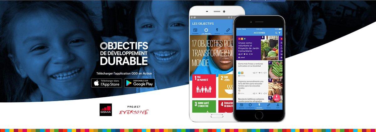 Télécharger l'#application #ODD en Action (Version Française)  http:// bit.ly/2m3Z8xL  &nbsp;    #GlobalGoals #SDGs #SmartPhones #AppStore #GooglePlay<br>http://pic.twitter.com/Ytlm4qOrGT