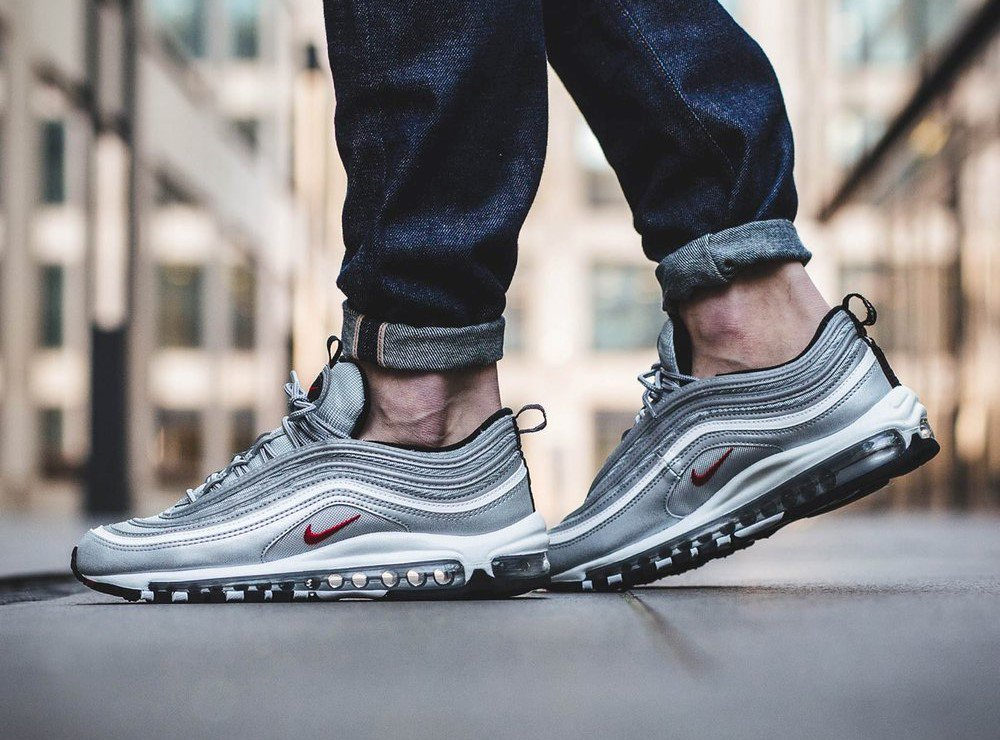 online store e541f f0dbd The Nike Air Max 97 OG QS Silver Bullet is releasing in 55 minutes... ...