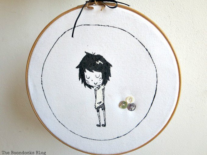 An Easy Repurpose of a T-Shirt into Wall Art