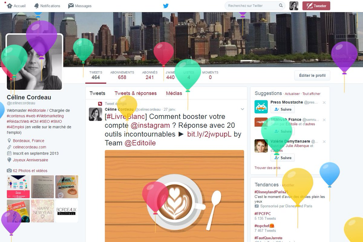 Waaoouuhh!! Merci @Twitter... j&#39;adore recharger ma page du coup  #happybirthday #balloons #goodday <br>http://pic.twitter.com/yhaWoq2CvR