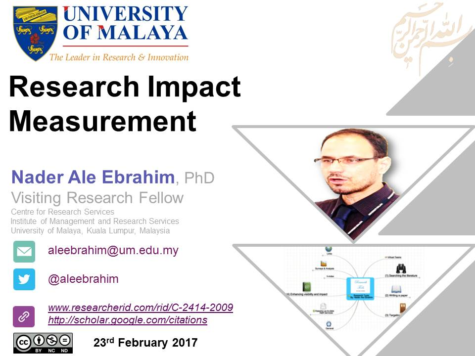 Here is my presentation about the same topic but from different angle #ResearchVisibility  https:// doi.org/10.6084/m9.fig share.4681345.v1   … <br>http://pic.twitter.com/eOd8hbmaWc