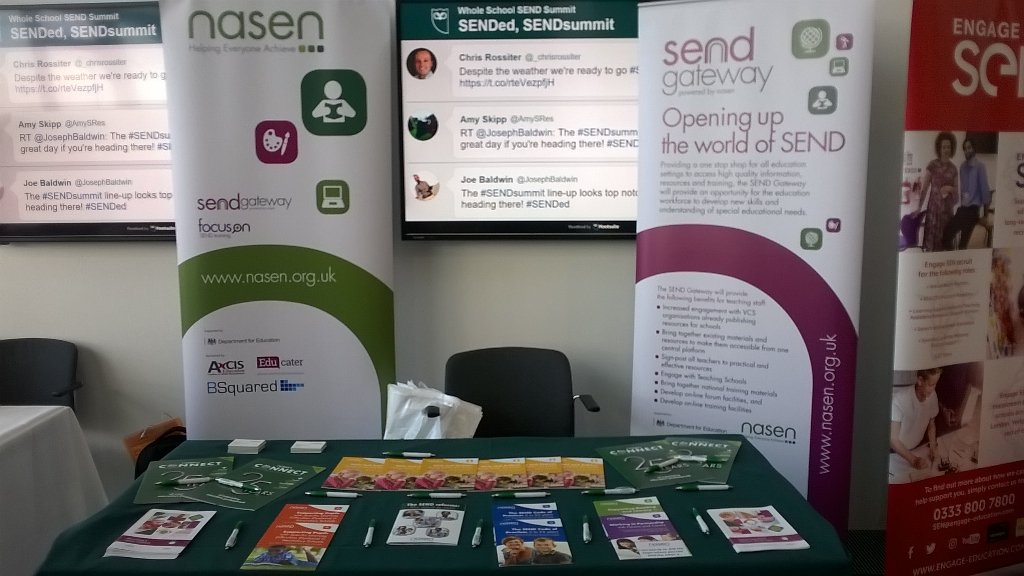 Great morning so far at the #SENDSummit @WholeSchoolSEND @LLSinfo https://t.co/VoHKCfitYJ