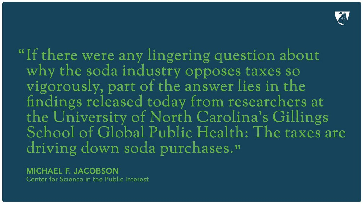 ICYMI: Mexico's soda tax is driving down soda purchases.  In other wor...