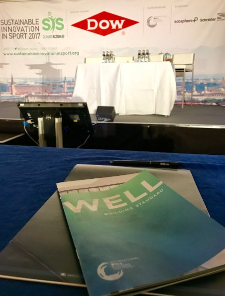 .@WELLcertified shared on their #sustainable venue certification at #SIIS17 - thanks for sponsoring  & supporting this event! #greensports https://t.co/kbp4QgtmSo