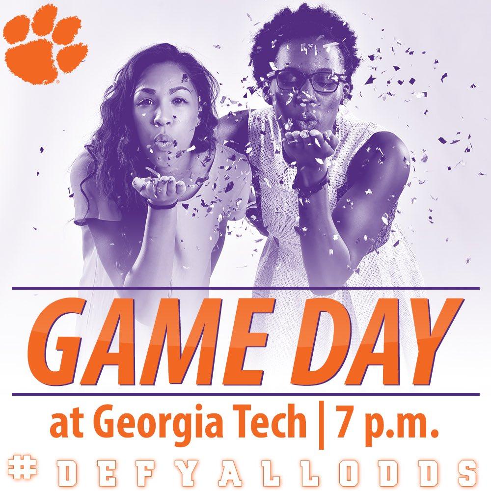 IT'S GAME DAY!!! #Clemson at Georgia Tech | 7 PM | Atlanta, Ga. #DefyAllOdds #ClemsonWBB https://t.co/A89D5PXL50