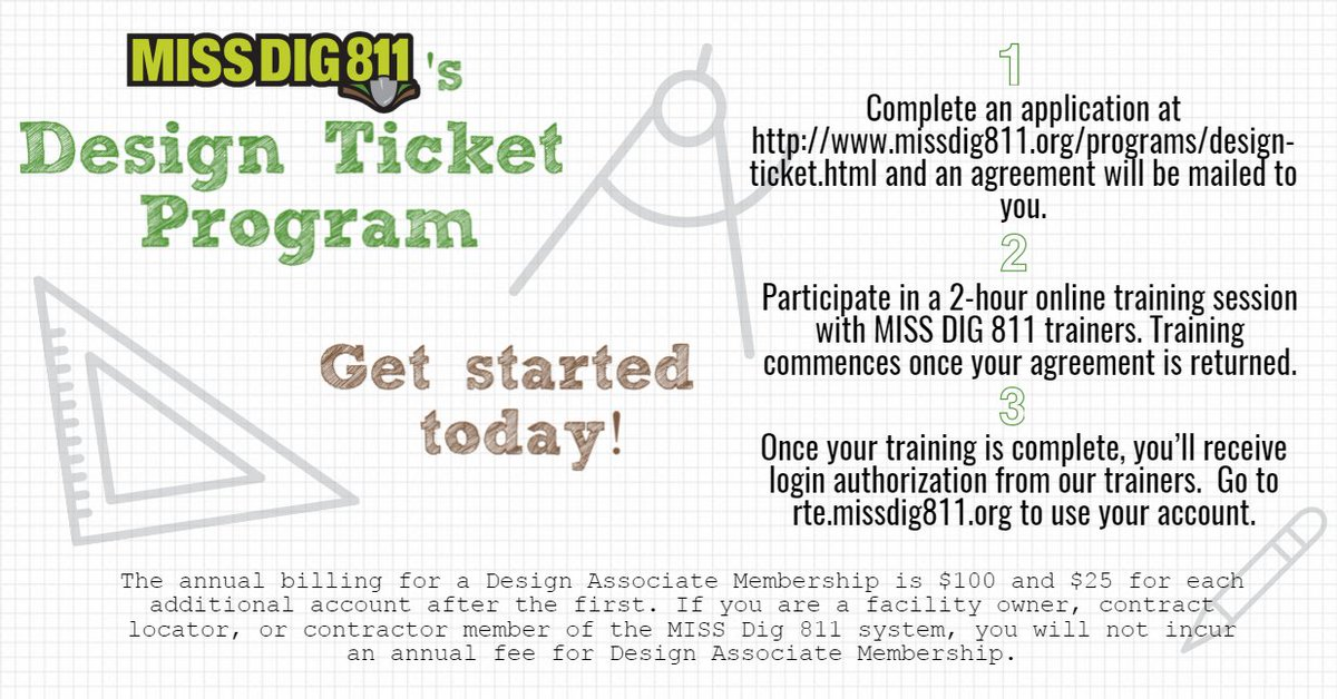 Miss Dig 811 On Twitter Are You In The Planning Stages Of A Project Check Out The Miss Dig 811 Design Ticket Program Https T Co D0ymvdayta Eweek2017 Https T Co P2jeasweiz A member can determine if they have missed a location request by using the sequence number on the tickets they have received. twitter