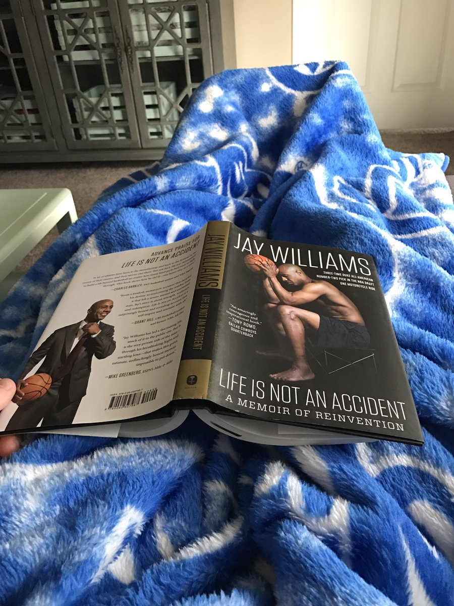 Starting my morning by reading @RealJayWilliams book. If you haven't read it, you're missing out.