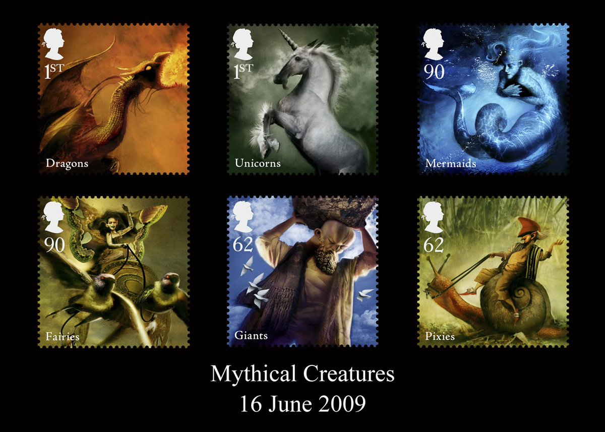Love these #mythical creatures #stamps! #postagestamps #royalmail #giants #fairies #unicorns #dragons #FolkloreThursday @RoyalMailStamps<br>http://pic.twitter.com/GGdxjPdKyg