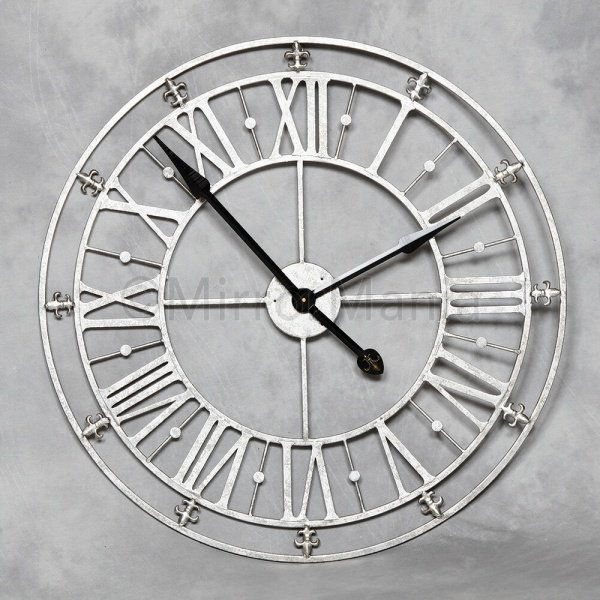 Our Gorgeous Round Metal Wall Clock in silver - https://t.co/k1Vy0wqimz  #UKBizLunch