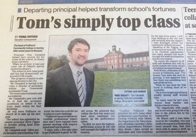 It's a warm #farewell to Mr Campbell in today's @Leicester_Merc  http:// ow.ly/Nfeu309hPMU  &nbsp;   who will be joining @GreenwoodAcad in March.<br>http://pic.twitter.com/aoMrwXvYe7