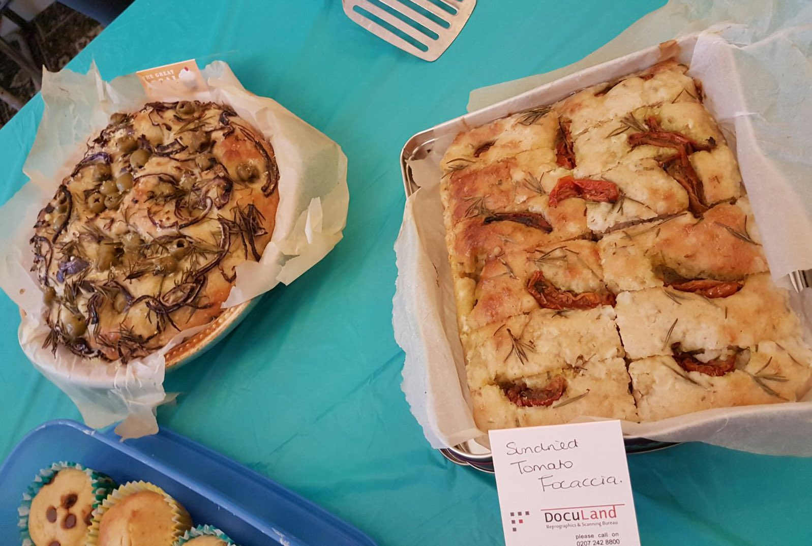 The focaccia baked by our @IsabelXWilson went down a treat! #GreatLegalBake @MidlandLST https://t.co/65KeTtbdmg