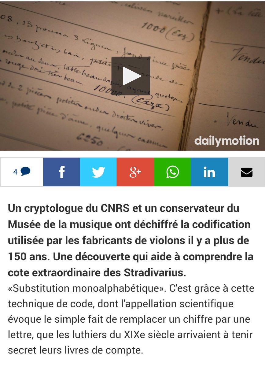 Le code secret des luthiers du XIXe siècle décrypté par un #algorithme ultra simple #stradivarius   http://www. lefigaro.fr/musique/2017/0 2/23/03006-20170223ARTFIG00012-le-code-secret-des-luthiers-parisiens-au-xixe-siecle-decrypte.php &nbsp; … <br>http://pic.twitter.com/7Pvswnl95x