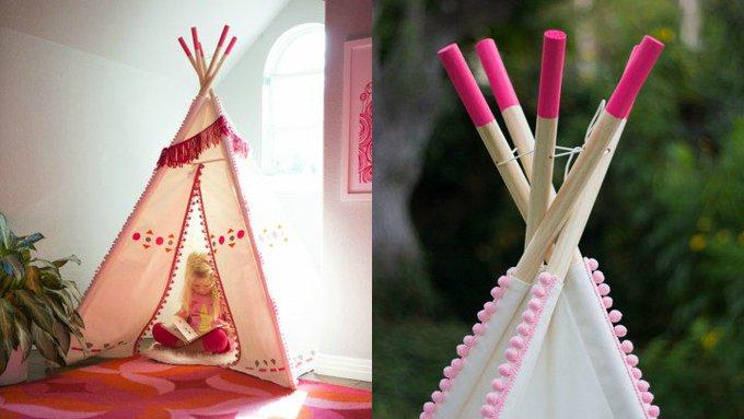 DIY: decorar un tipi indio para la habitación de los niños