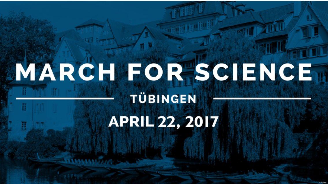 #ScienceMarch not only 4 scientists--alle an Wissenschaft Interessierten sind herzlich eingeladen @kepitue #Tübingen http://facebook.com/ScienceMarchTUE