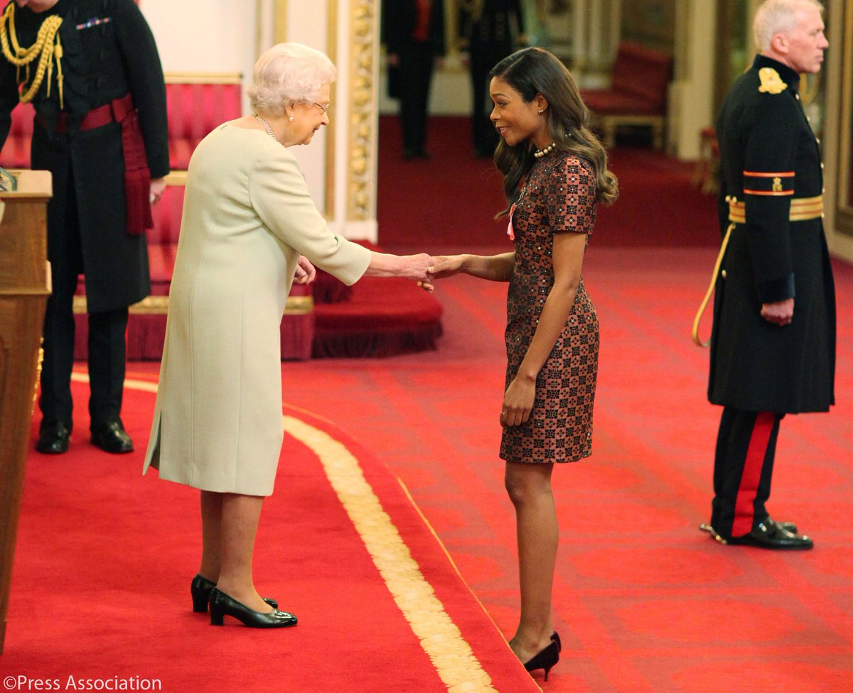 Congratulations @NaomieHarris #OBE, honoured by The Queen at today&#39;s #Investiture at Buckingham Palace, for services to Drama <br>http://pic.twitter.com/HlEbercFVO