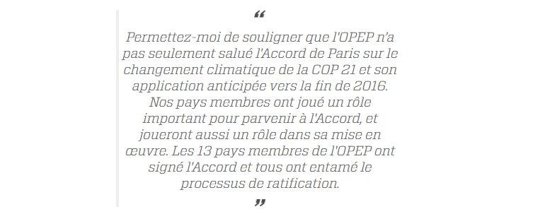 Le Chef de l&#39;#OPEP réitère son soutien à l&#39;#AccordDeParis sur le #climat &amp; soutient l&#39;#energiepropre   http:// bit.ly/2lFM40q  &nbsp;   #renouvelables<br>http://pic.twitter.com/QFUOPDLFNC