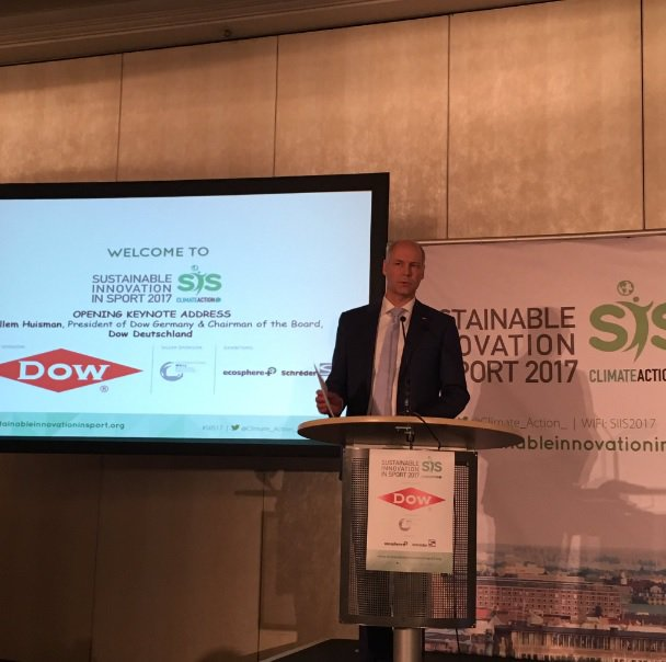 A huge thanks to our sponsor @DowChemical for making #SIIS17 possible and sharing on the growth of #sustainability in #sports! #greensports https://t.co/rF6xOWcMSt