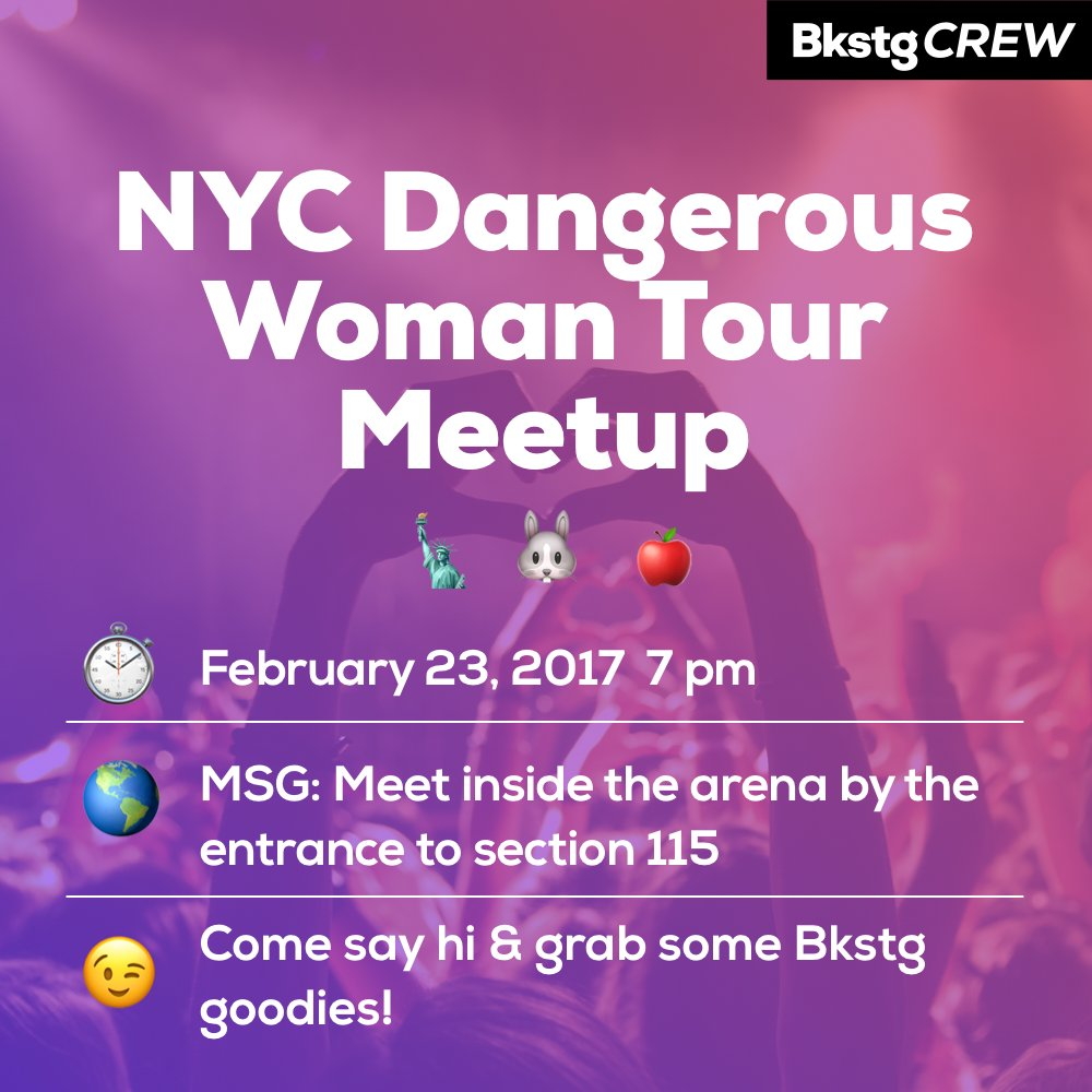 Calling all NYC #Arianators & #Mixers, come to our #DangerousWoman...