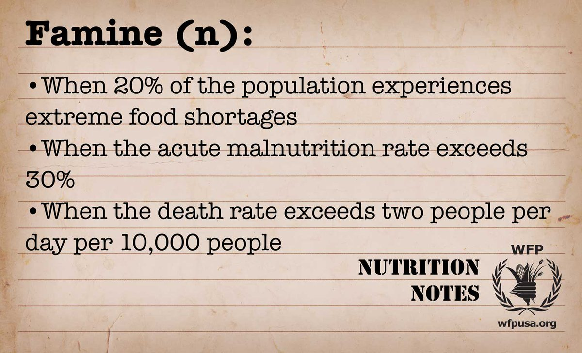 #Famine was declared in parts of #SouthSudan early this week. But what is famine, exactly? #4Famines @WFP @UN https://t.co/arP9N9gmS3