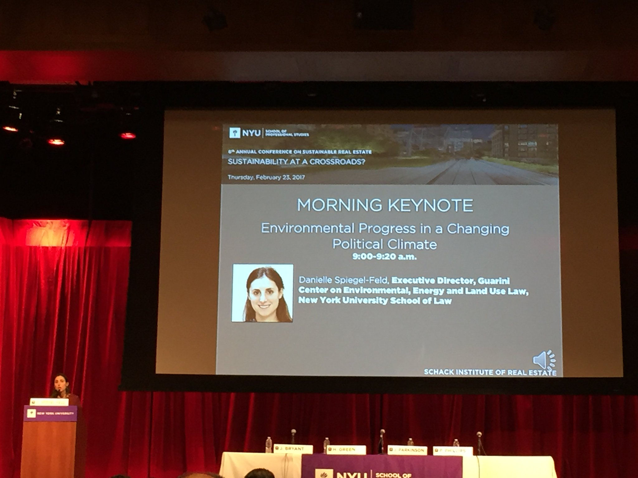 Kicking off #NYUSBE with a keynote speech from @nyulaw's Danielle Spiegel-Feld https://t.co/eMlrekNVeq