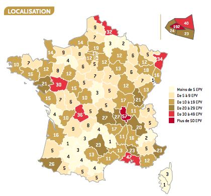 répartition géographique des  1 400 entreprises   @labelepv #savoirfaire #madeinfrance #créativité   <br>http://pic.twitter.com/Ref62qWIpQ&quot;