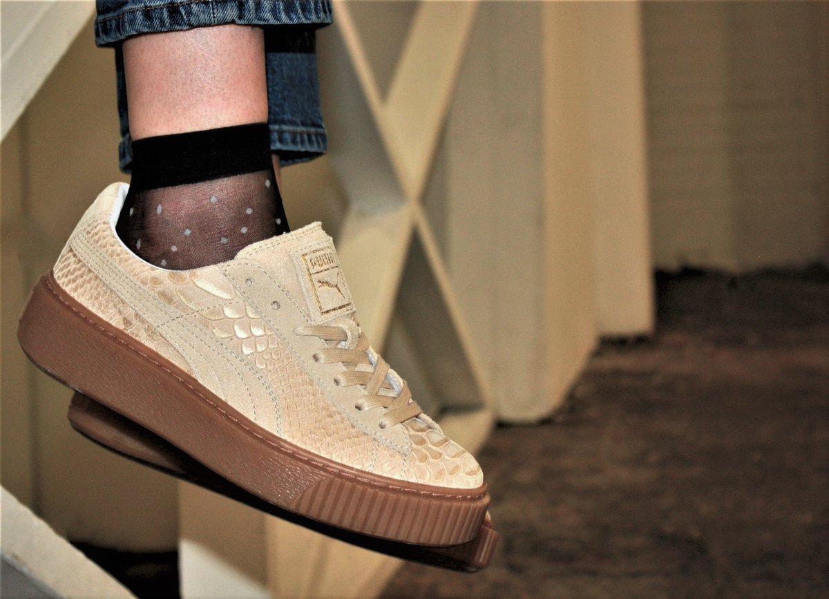 puma basket exotic skin