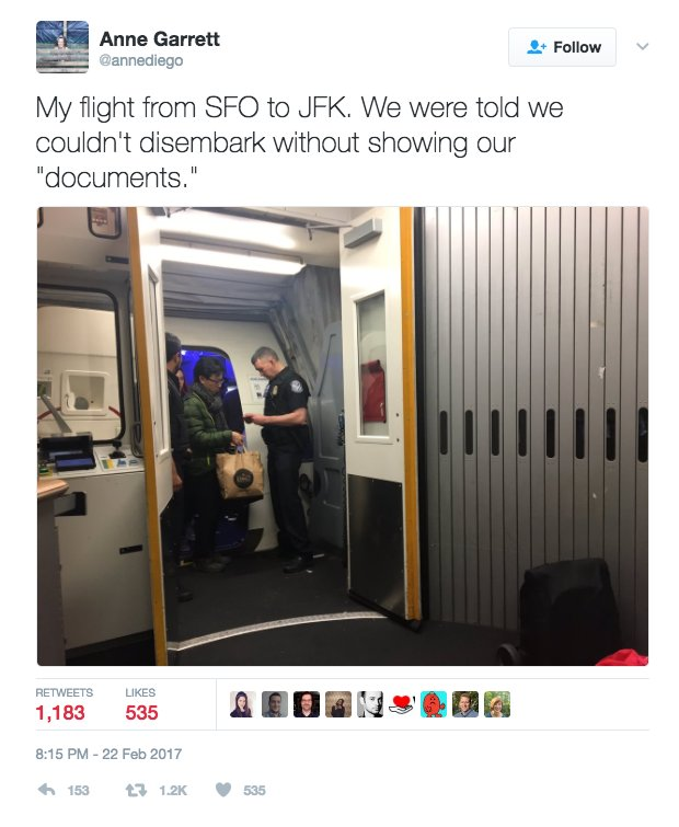 Two reports of customs agents at JFK checking passenger's documents on a domestic flight. https://t.co/nKY3aeLxVT