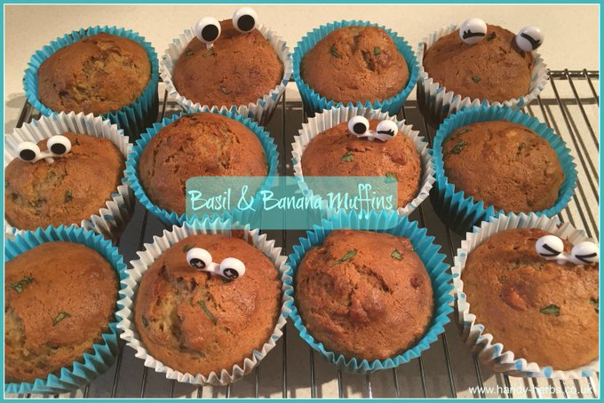 Basil and Banana Muffins
