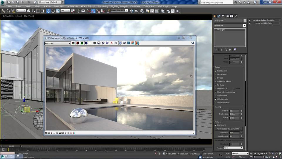 Cgmeetup On Twitter V Ray Hdri Lighting For Exterior Render In 3ds Max