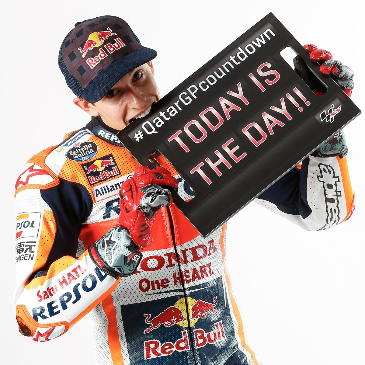 Press conference day!🙌  #QatarGPCountdown  @marcmarquez93 #QatarGP htt...