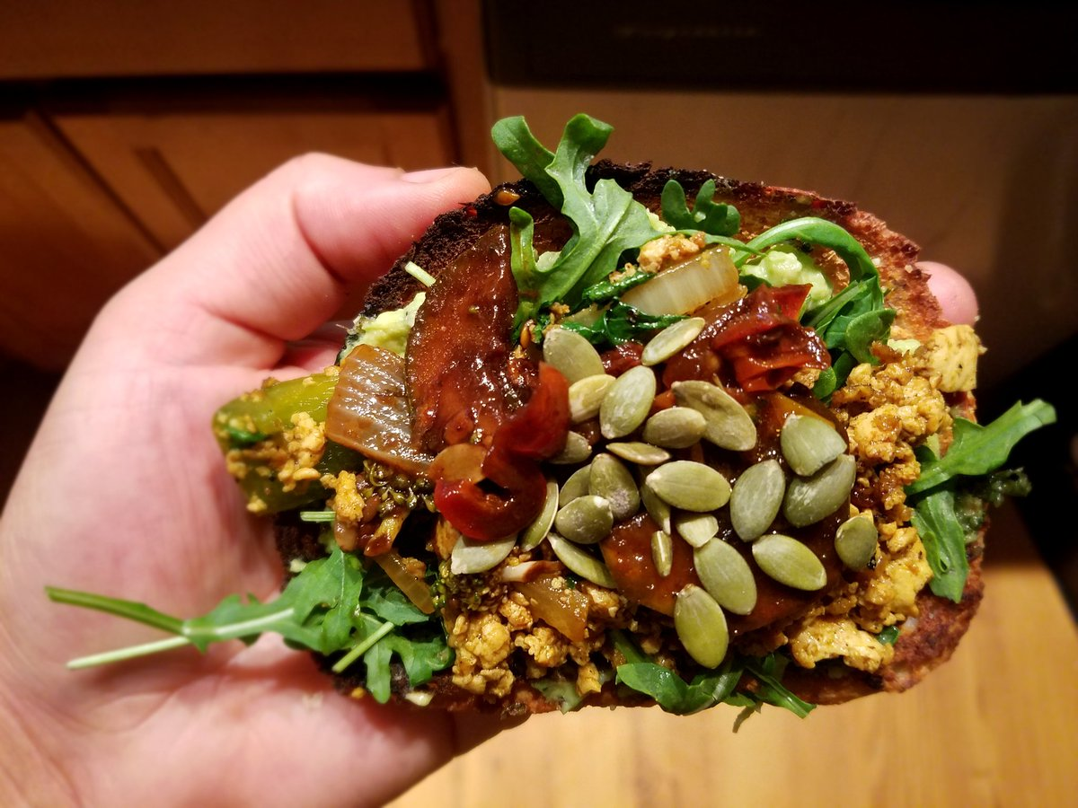 Action Packed Avocado Toast. #VEGAN #BREAKFAST