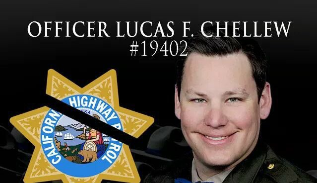 RIP @CHP_HQ PO Lucas Chellew who was killed LOD when his motorcycle crashed during a pursuit. Plz RT &amp; show your support #BackTheBlue  <br>http://pic.twitter.com/6HfwBEdYBh