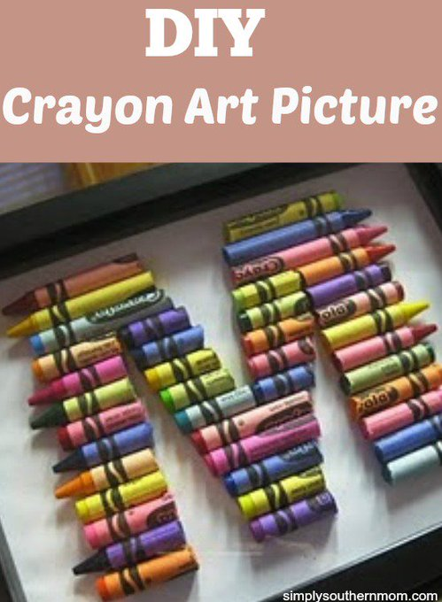 How to Make a DIY Crayon Initials Picture