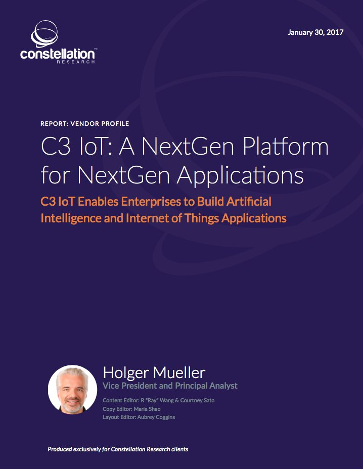 Report - @C3IoT: A NextGen Platform for NextGen Applications https://t.co/HCh0SHrgBd by @holgermu #FutureOfWork #CIO #CXO https://t.co/SKnANO2eSu
