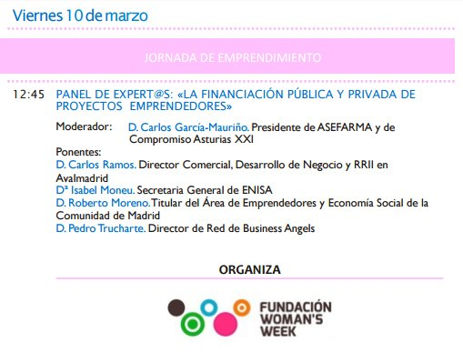 #MWW2017 10.03 @imoneulucas Secretaria General participará en el panel sobre financiación pública y privada de proyectos emprendedores. https://t.co/9Zo9481tUq