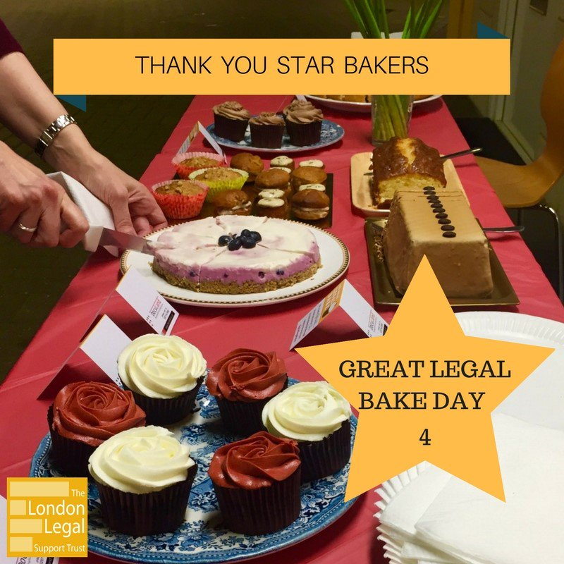 Thank you to all who have taken part today supporting a great cause! Another successful day #GreatLegalBake https://t.co/aXLciwlAHD