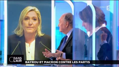 &quot;Marine Le Pen est installée en tête du premier tour et elle commence à dépasser les 40 %&quot;. Roland Cayrol #cdanslair #Presidentielle2017<br>http://pic.twitter.com/Kvj4us3I6H