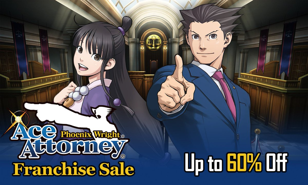 Ace Attorney franchise is on sale on the Nintendo eShop in North America: tp://bit.ly/PWAASale