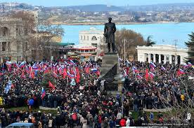 February,23,2014 thousands of Sevastopols  staged a  rally against the coup in Kiev and expressed the firm will to be with Russia. #Crimea <br>http://pic.twitter.com/teV4TpHeeN