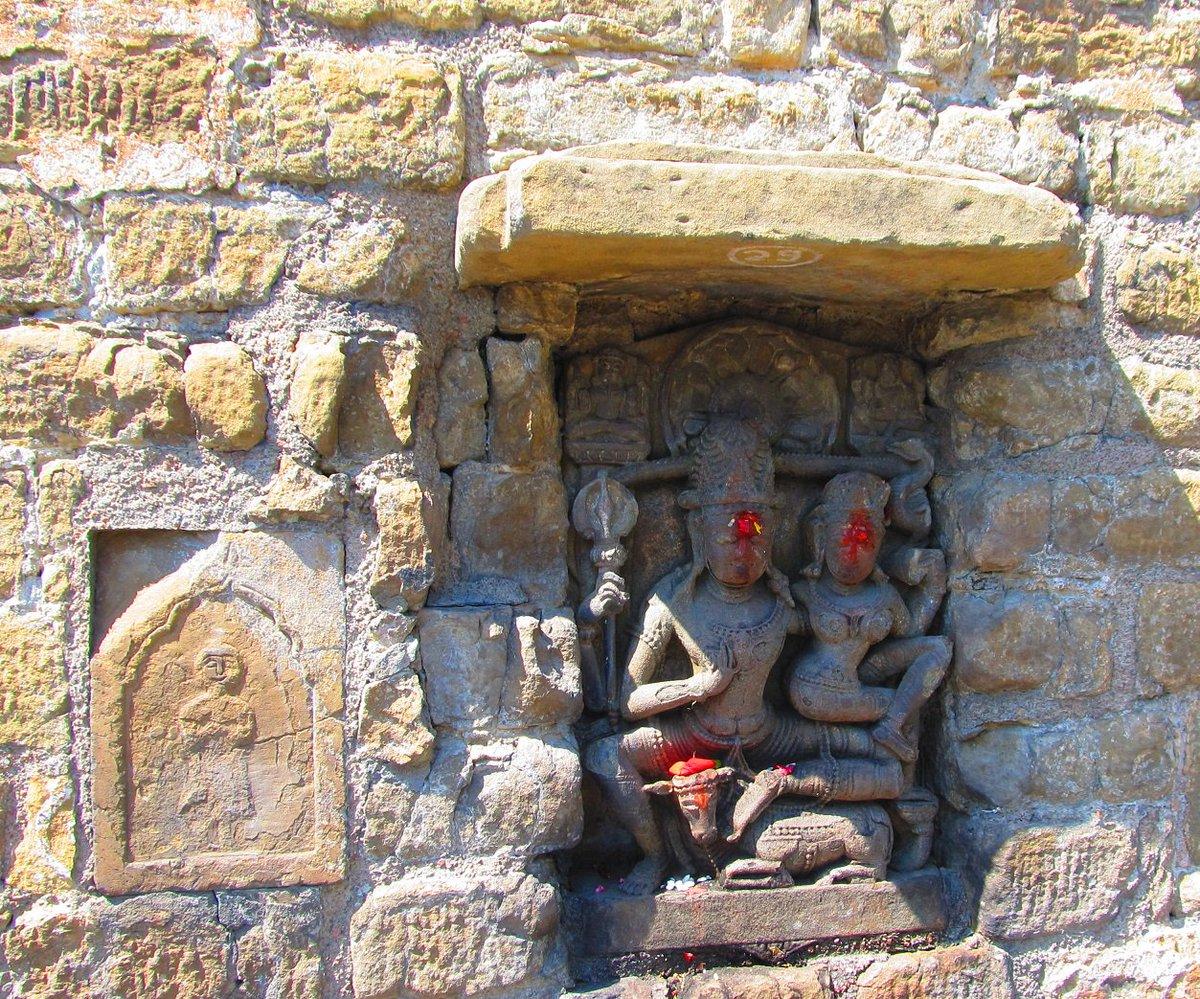 #FormsOfShiva: Shiva, with Parvati, atop Nandi. Pic taken at #Baijnath, #Himachal, 2014.