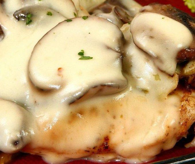 Mushroom Mozzarella Chicken