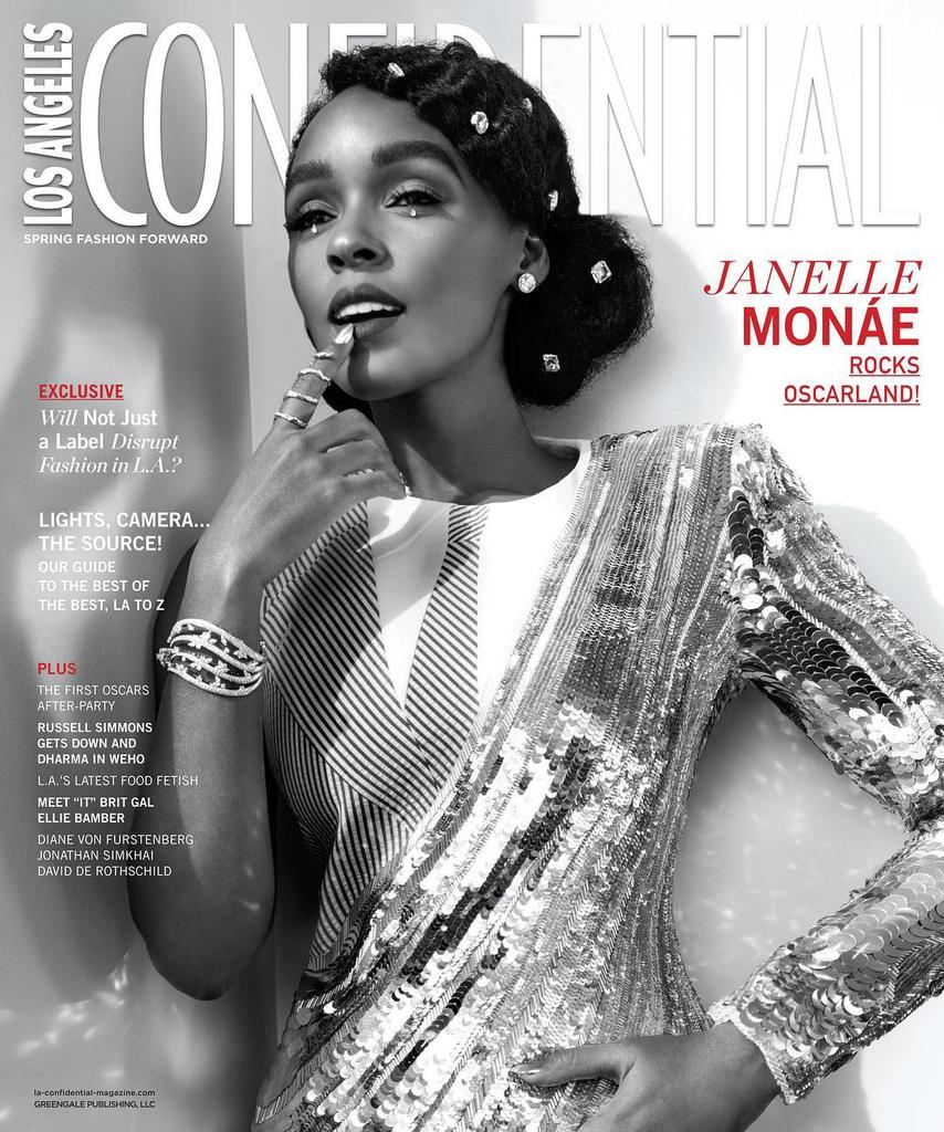 Janelle Monáe for Los Angeles Confidential - Spring 2017 #JanelleMonae...