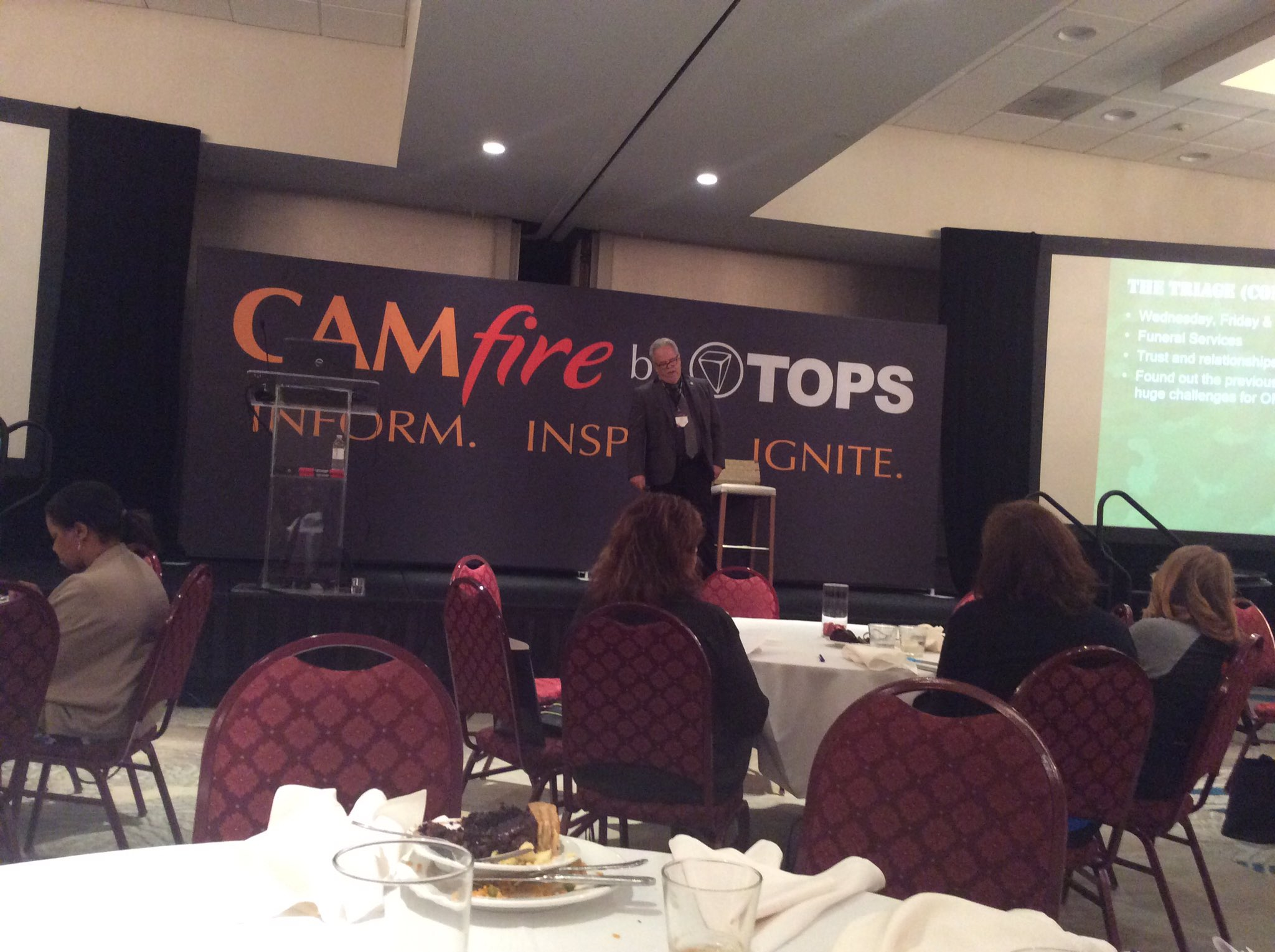 Attending an inspirational keynote session by Rolf Crocker of Omni Management at Tops CAMFire in Orlando, FL #CAMfire17 https://t.co/zJkLusdny4
