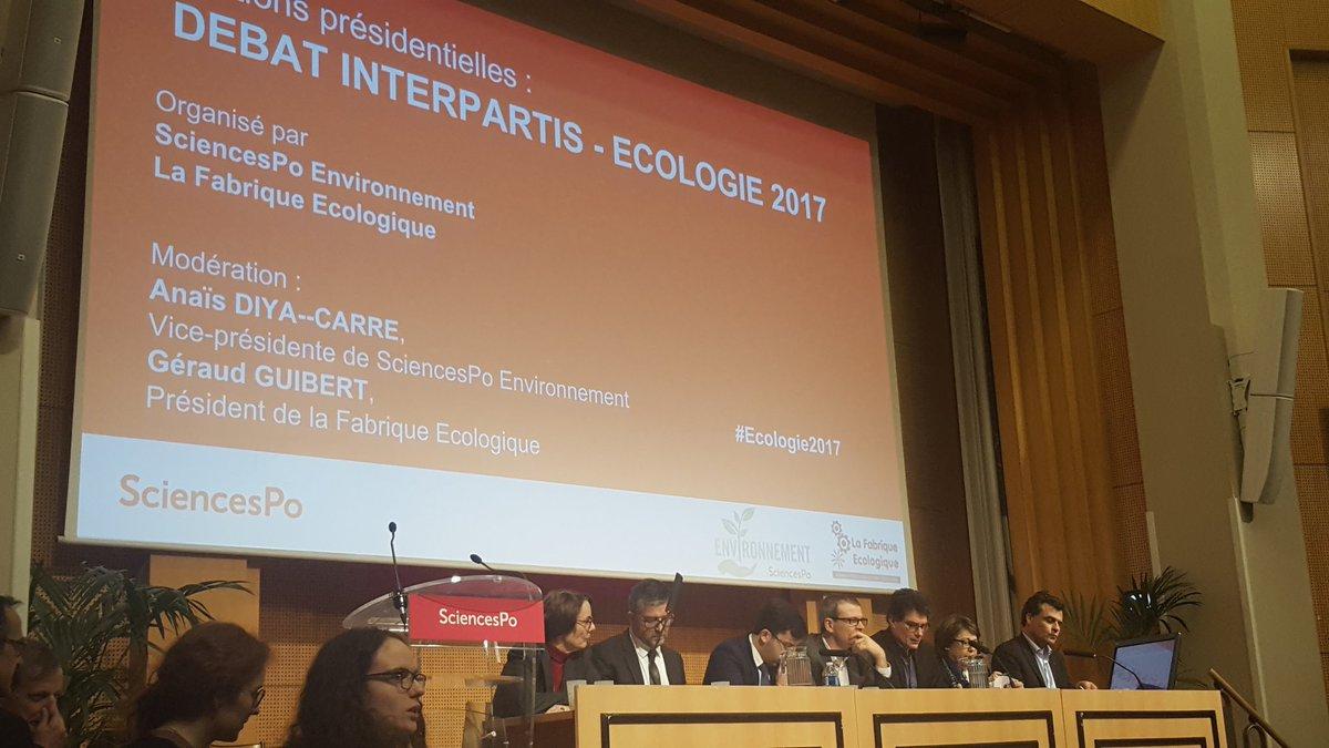 C est parti: débat interpartis  #Ecologie2017 avec @sciencespo #environment  @LaFabriqueEcolo #AccordDeParis <br>http://pic.twitter.com/d8AIExkQPe