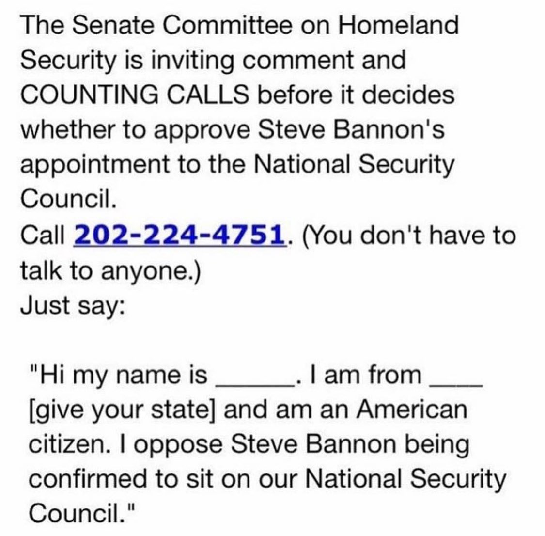 Pick up the phone and let the Senate know where you stand. Make your v...