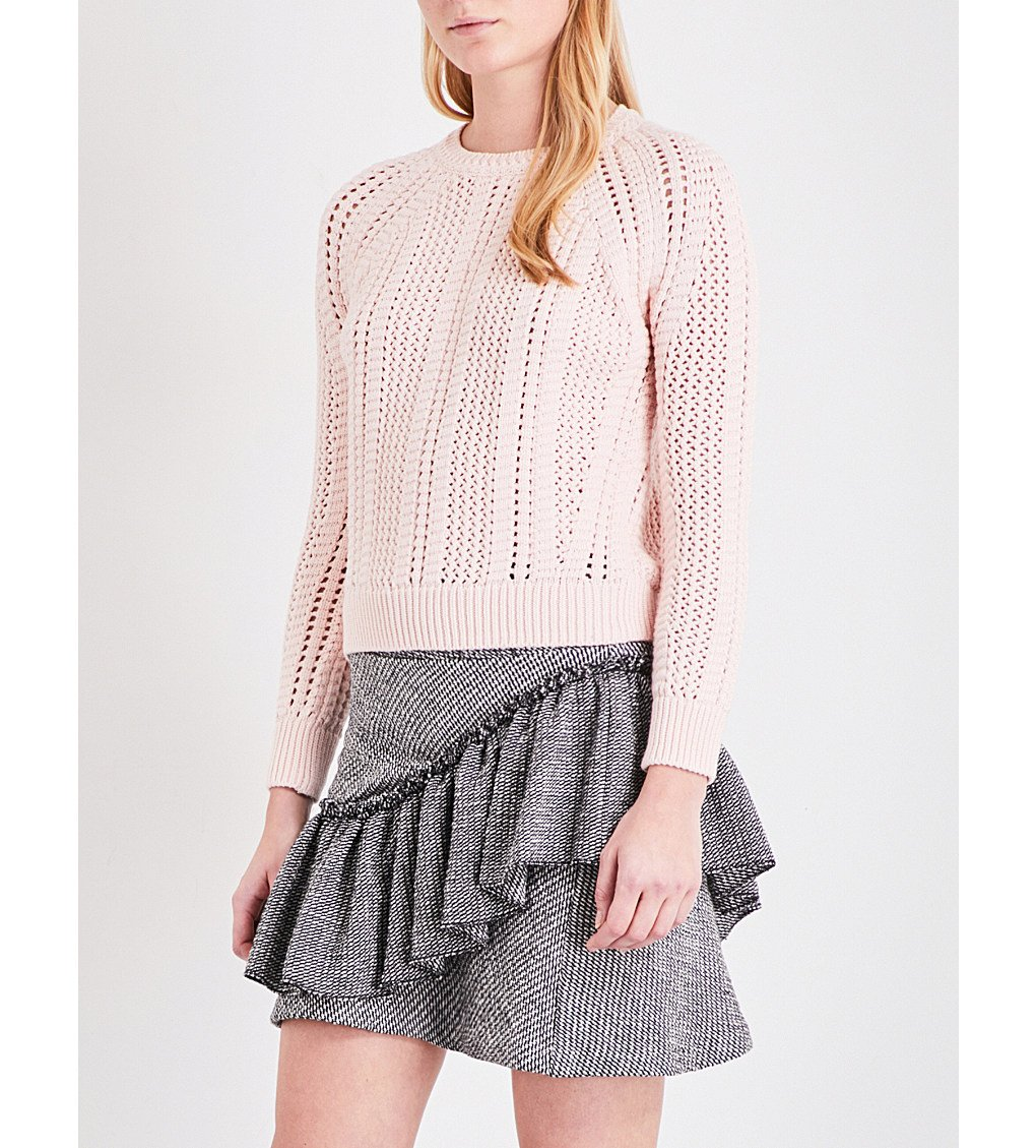 #MAJE Openwork chunky-knit cotton-blend sweater  http:// fave.co/2kRefum  &nbsp;     jacquard skirt  http:// fave.co/2kRbVmY  &nbsp;  <br>http://pic.twitter.com/Ldsm9uhdUP