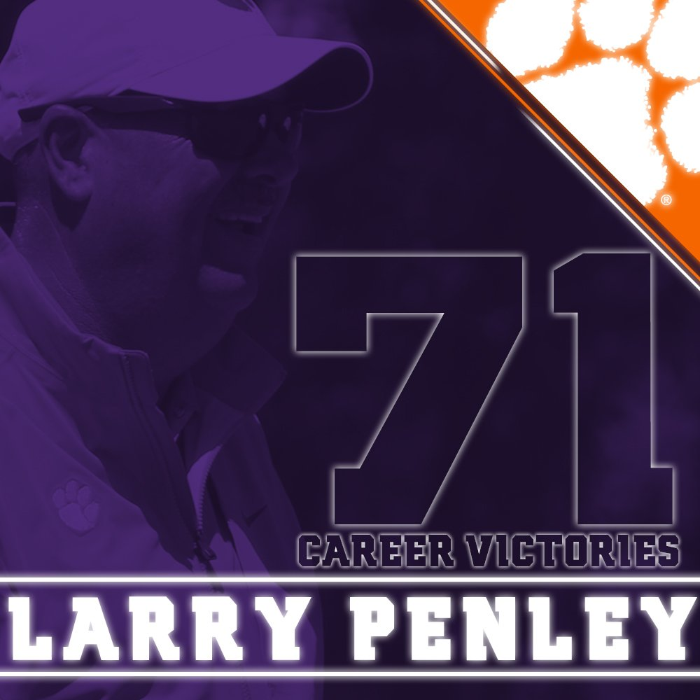 #Clemson's victory at the Puerto Rico Classic is the 71st of Coach Penley's career and the second most in ACC history! https://t.co/tVu3usG5qX