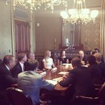 Great session this morning with leading manufacturing CEOs on workforce development