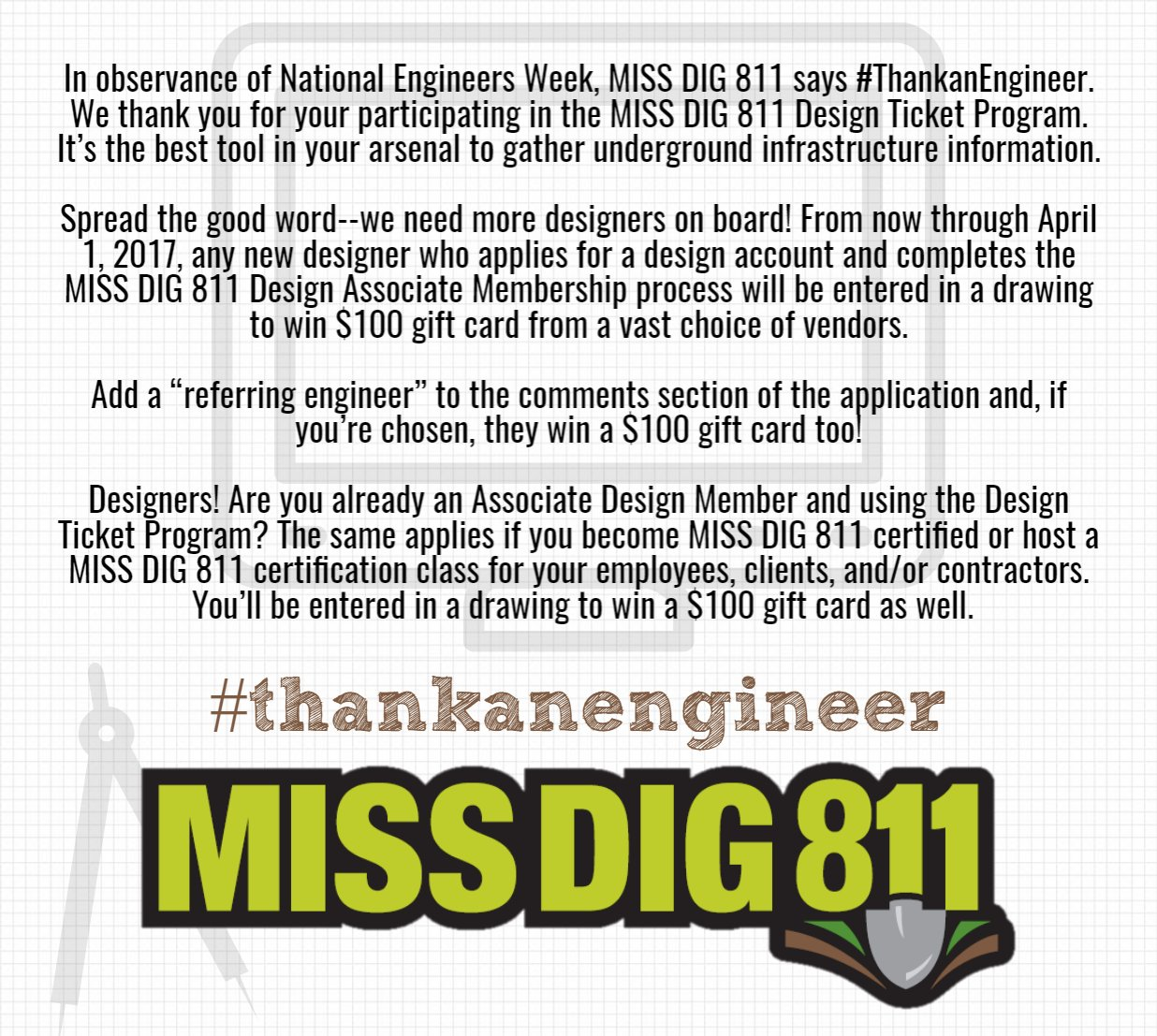 Miss Dig 811 On Twitter Https T Co D0ymvdayta Thankanengineer Eweek2017 · 7th consecutive year of certification in the michigan turfgrass environmental. twitter
